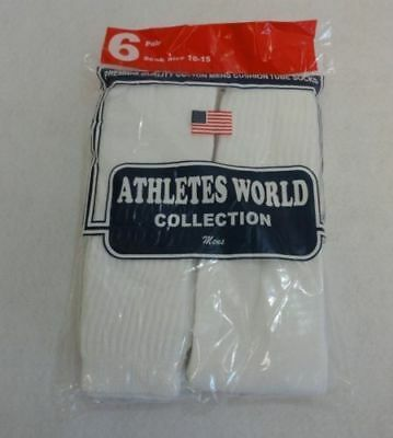 WHOLESALE BULK LOT 240 Pairs White Mens Sports Tube Socks SIZE 10-15
