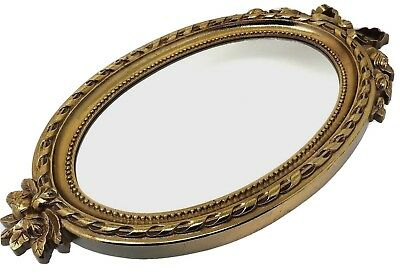 Vtg Mid Century Hollywood Regency Gold Scroll Ornate Wall Mirror Syroco Homco
