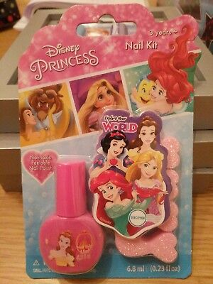 DISNEY PRINCESS NAIL Polish Kit Christmas Gift - £2 99