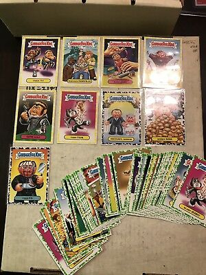 Garbage Pail Kids 2016 Lot Of 6 Yellow 3 Black And 47 Green Border Cards N/M