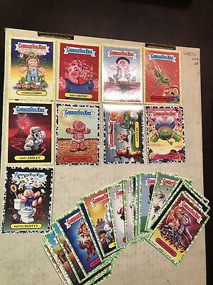 Garbage Pail Kids 2017 Lot Of 5 Yellow 4 Black And 16 Green Cards N/M