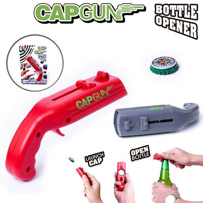 Firing Cap Gun Creative Useful Bottle Opener Xmas Gift Fun Toy Free Shipping