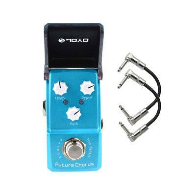 Joyo JF-316 Future Chorus Ironman Mini Guitar Effects Pedal with Patch Cables