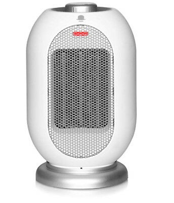 Space Electric Fan Heater 1200W/700W Portable Overheat Protection White NEW