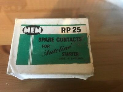 Mem Rp25 Spare Contacts For Autoline Starter Made In England