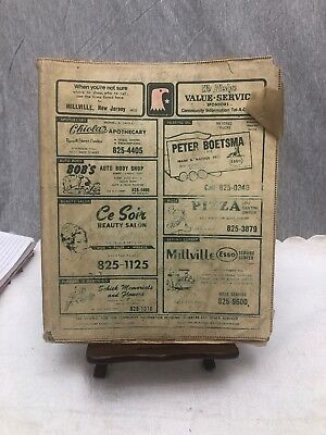 1970 Millville New Jersey Telephone Phonebook Directory Phone Book
