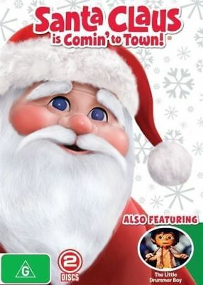 Santa Claus Is Comin' To Town+The Little Drummer Boy DVD CHRISTMAS MOVIES NEW R4