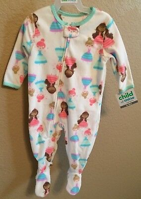 11c1e39ca248 CHILD OF MINE by Carters Baby Girls Fleece Sleeper Zip-up 6-9 Month ...