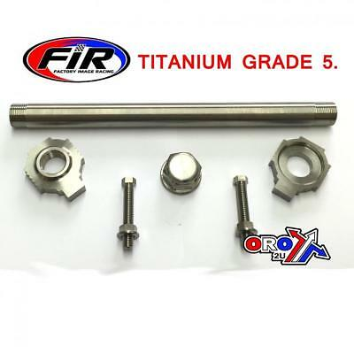 Rear Spindle Kit Set TITANIUM KTM EXC EXCF 125 250 300 450 500 530 ALL YEARS