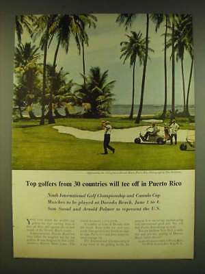 1961 Puerto Rico Tourism Ad - Top golfers from 30 countries will tee off