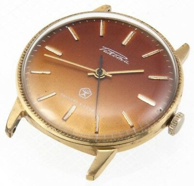 RAKETA Russian Watch USSR Old Antique Vintage AU Gold Plated 2609.HA