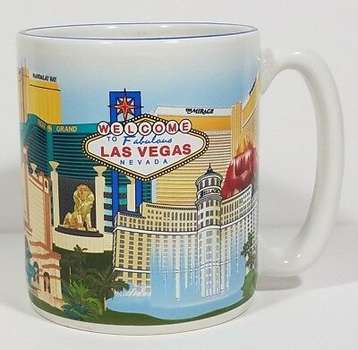 Las Vegas strip Nevada MGM Grand Mirage Casino collectible white coffee cup mug