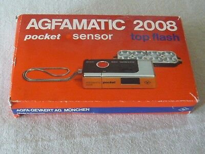 Agfamatic 2008 Pocket Camera in original presentation case/package with extras.