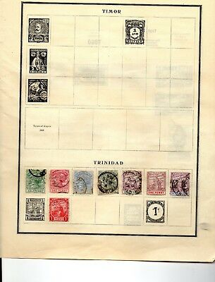 Trinidad 8 stamps from an old scott album vf used 1883-1900