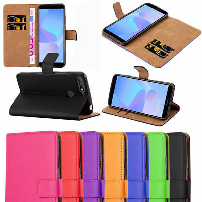For Huawei P20 Lite/P20 Pro Luxury Genuine Real Leather Flip Case & Cover