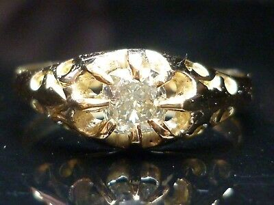 Stunning 18ct gold Victorian 1864 0.50ct Old Mine Cut diamond ring INVESTMENT
