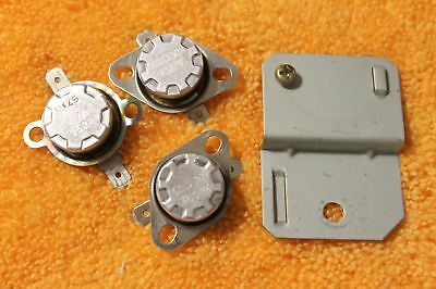 Lot of Three (3) Thermal Switches from Microwave Ovens 105, 180 C deg., Tested