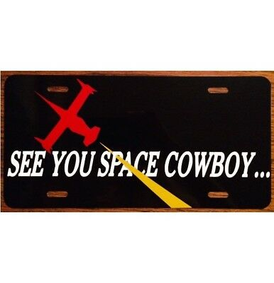 Cowboy Bebop License Plate See You Space Cowboy Car Tag