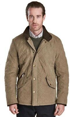 Barbour Men's Bowden Quilted jacket Size Large NWT Light Olive $299 Free Ship!