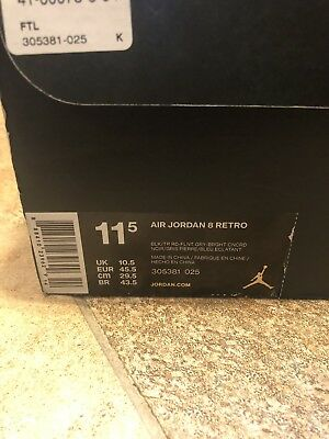 2912d2321f25 NIKE AIR JORDAN 6 Retro (PS) Size 3Y OREO Lakers VI Black Infrared ...