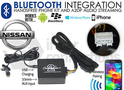 Bluetooth Music Streaming Handsfree adapter CTANSBT001 for Nissan Primera 2000 >
