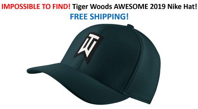 67aed61882646 RARE Nike TW Ultralite Spruce Blue Green Golf Hat Tiger Woods FREE SHIP IN  BOX