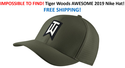 RARE Nike TW Ultralite Canvas Green Golf Hat Tiger Woods FREE SHIP IN BOX 797b3f7eb170