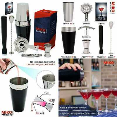 Professional Bartender Kit Cocktail Shaker Bar Set Includes Tools & Accessories