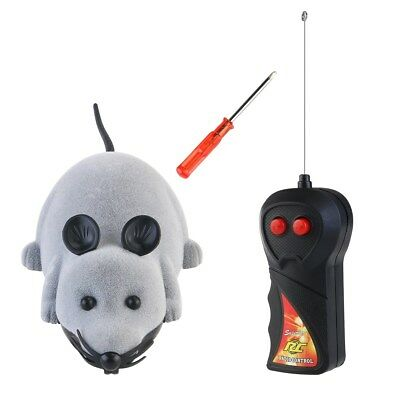 Wireless Remote Control RC Electronic Rat Mouse Mice Play Toy Cute for Cat Puppy