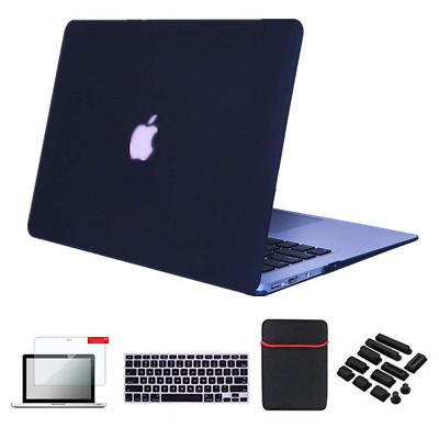 """Se7enline Macbook Air Case Cover 5 in 1 Bundle Soft-Touch Plastic Hard for 13.3"""""""
