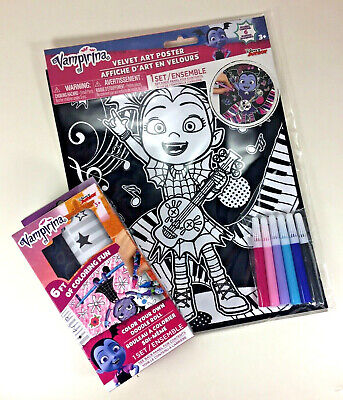 /& Stickers-NEW Crayons VAMPIRINA 10-Color Pen /& Color Your Own Doodle Roll
