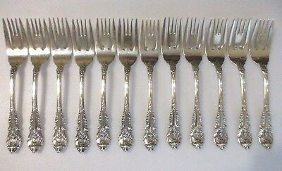 """1 Wallace Sir Christopher Sterling Silver 6-3/8"""" Salad Dessert Fork 12 Avail"""