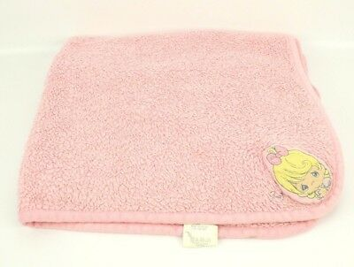 Precious Moments Plush Baby Security Blanket Pink Fleece Lovey Pink Girl Bow