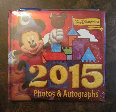 Walt Disney World 2015 Mickey Mouse Autograph Book & Photo w/ Gel Pen NEW