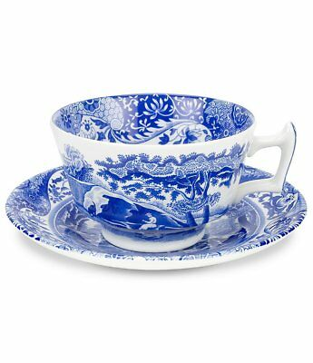 SPODE Blue Italian Cup and Saucer-Tea Cup-Coffee Cup-England-5 sets available