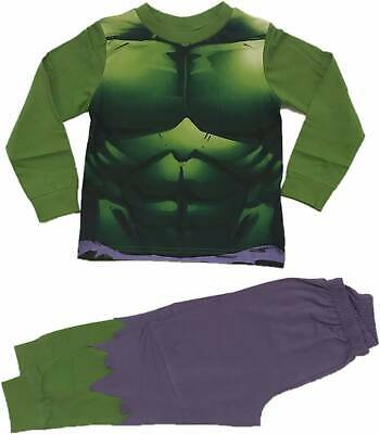 Official Boys Marvel The Hulk Pyjamas Pajamas Pjs Kids Childrens 5 6 8 10 12