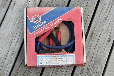 Vintage NAPA 12ft 6-Gauge  Booster Cables Jump Start Cables in original box