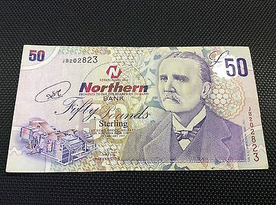 Northern Bank £50 note. 2005 issu VF condition....rare.  A rare note to find