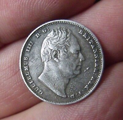 1834 Sixpence - William Iv British Silver Coin - Nice.      179/118