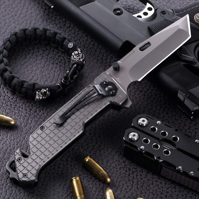 Tanto Spring Assisted Pocket Folding Knife-Military Style.Made in Europe!
