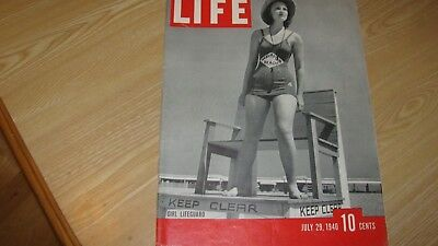 1940 Life Magazine July 29   Girl Lifeguard  High Grade Lowest Price On Ebay