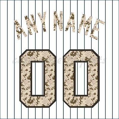 Baseball New York Yankees Camo White Jersey Customized Number Kit un-stitched