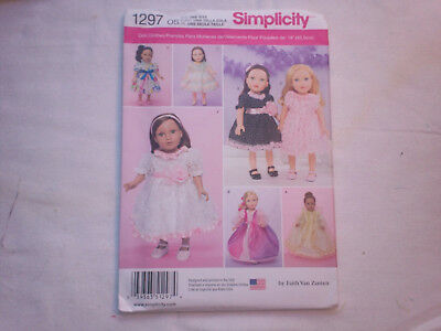 Simplicity Sewing Pattern #1297 - 18  inchDoll clothes