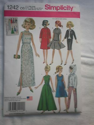 Simplicity Sewing Pattern #1242 for 11 1/2 inch doll clothes