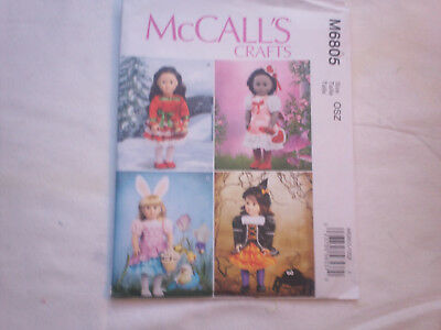 McCall's Sewing Pattern #6805 - 18  inchDoll clothes