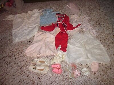 Vintage Lot Of 1950S And 1960S Doll Clothes, Hats And Shoes (GREAT COLLECTIBLES)