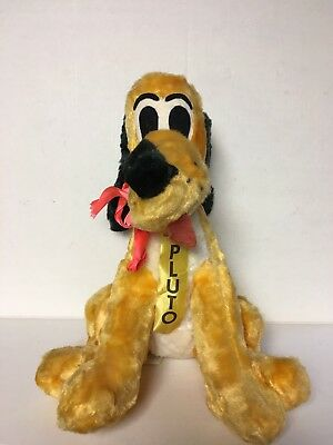 "SCARCE 1950's STUFFED PLUTO Walt Disney LARGE 15"" W Tag EXCELLENT"