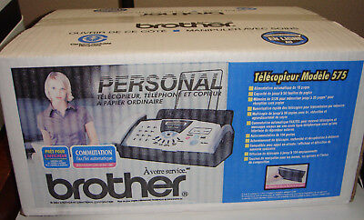 Brother FAX-575 Plain Paper Fax Phone & Copier - NEW