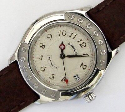 ETA 2824-2, automatic Folkwatch with date at 3, NOS swiss made