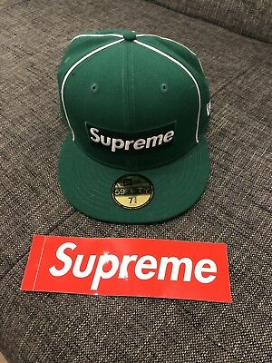 SUPREME X NEW Era 59FIFTY Fitted Cap 7 3 4 Grün - EUR 36 6576853024d
